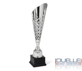 Coppa argento taglio laser personalizzata con stampa per premiazioni