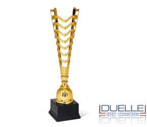 Coppa personalizzata taglio laser colore oro per premiazioni sportive