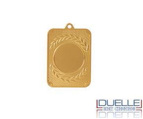 Medaglie personalizzate rettangolari con stampa per premiazioni sportive