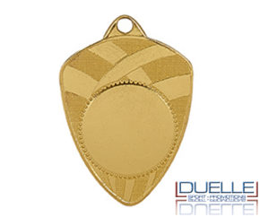 Medaglie personalizzate scudo con stampa per premiazioni sportive