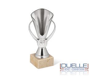 Coppe per premiazioni argento in plastica con base in marmo