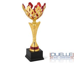 Coppe personalizzate economiche premiazioni colore oro con interno rosso