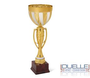 Coppa personalizzata per premiazioni sportive oro particolari argento