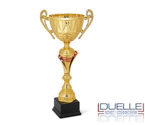 Coppa oro con manici personalizzata per premiazioni