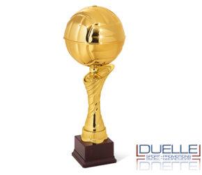Coppa premiazioni sportive pallone da pallavolo personalizzata