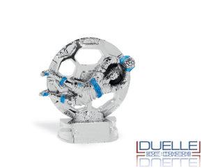 Trofeo personalizzato bomber in azione online in resina metallizzata