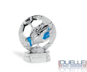 Trofeo sportivo con guanto da portiere personalizzato online