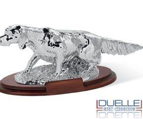 Trofeo per premiazioni caccia setter metallizzato personalizzato