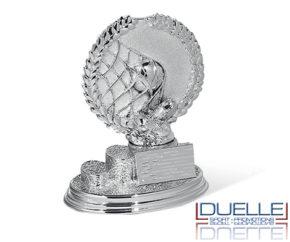 Trofeo sportivo personalizzato calcio metallizzato