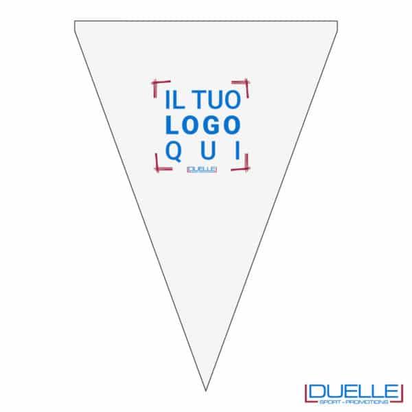Gargliardetto triangolare stampato