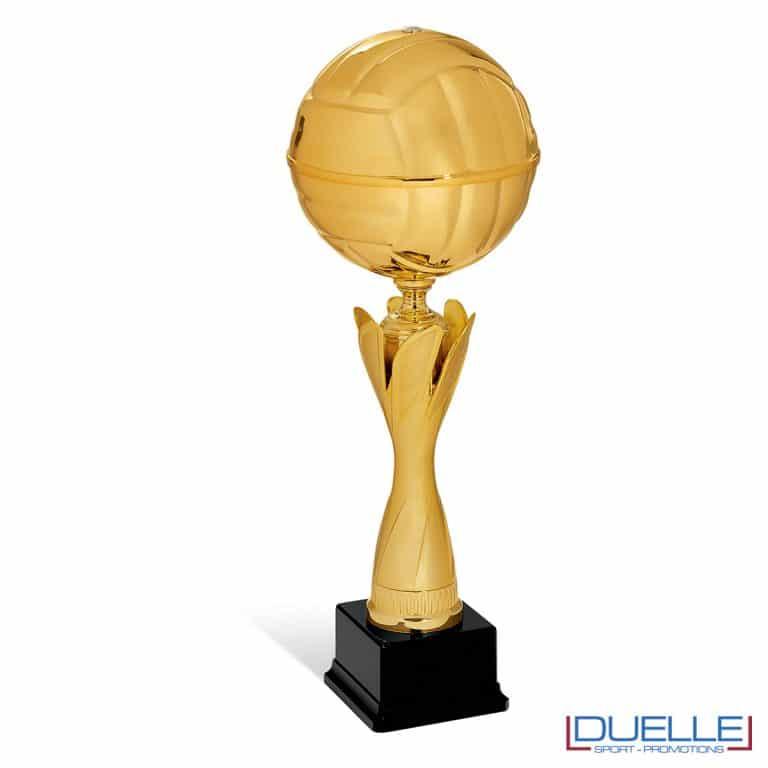 Coppa pallavolo personalizzabile con pallone d'oro