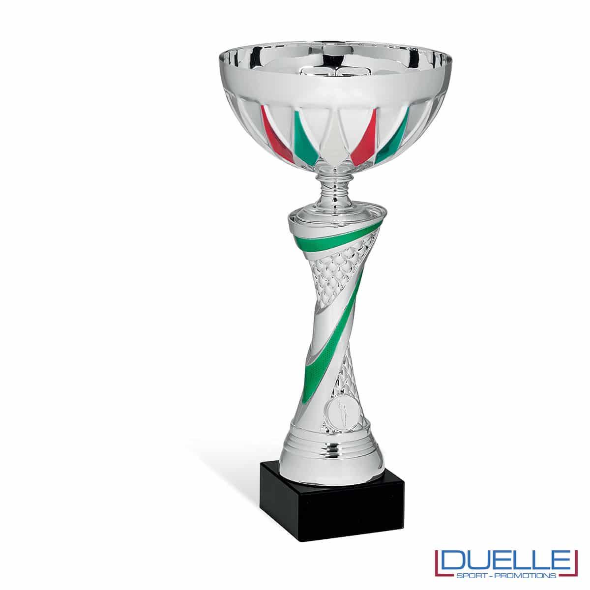 Coppa tricolore in metallo personalizzabile premiazioni