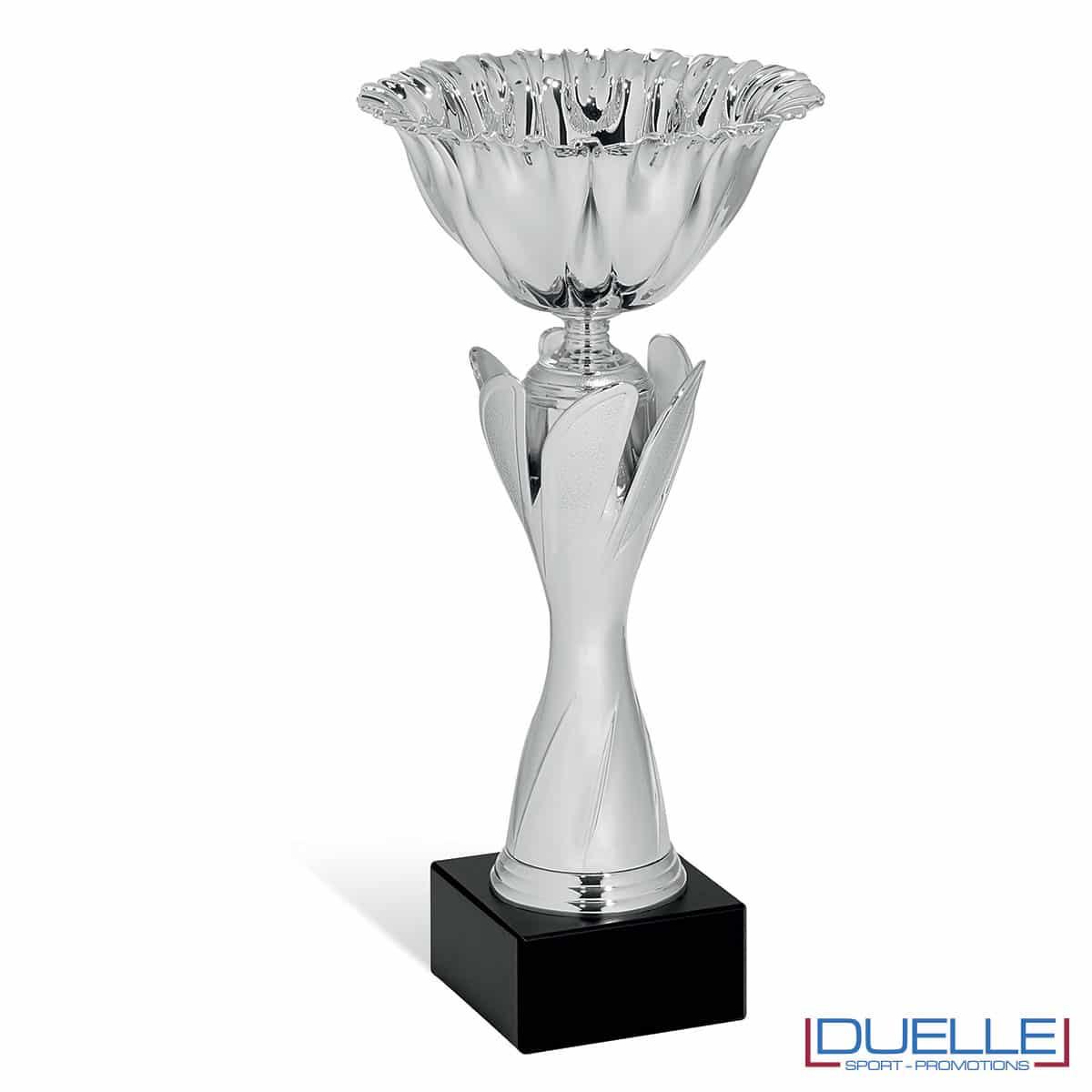Coppa premiazioni argento personalizzabile free design