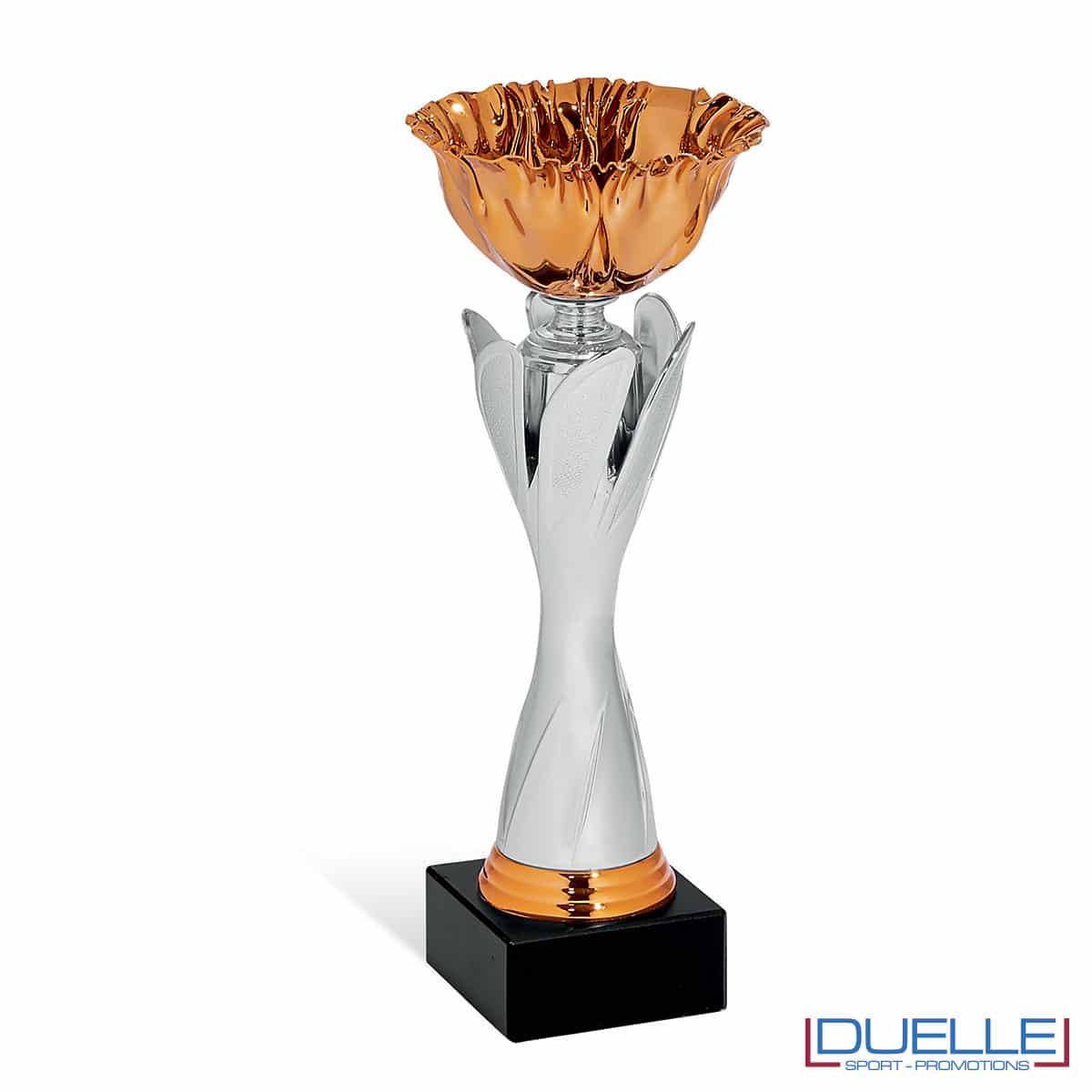 Coppa bronzo con corpo silver personalizzabile premiazioni
