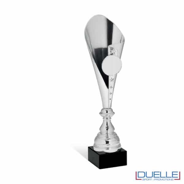 Coppa argento con stelle personalizzata
