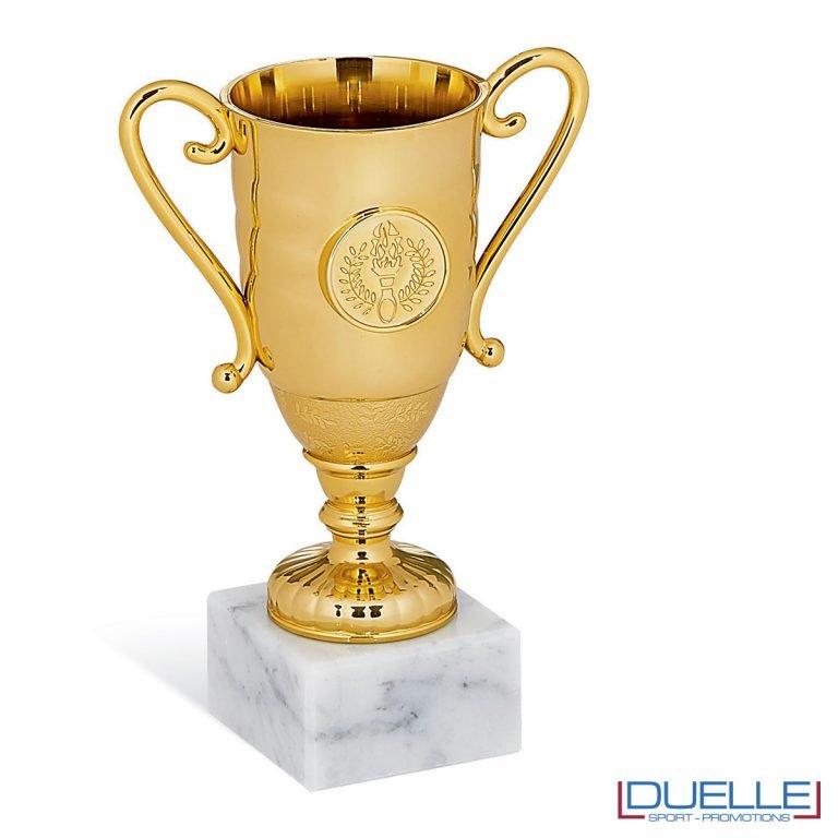 Coppa oro mini per premiazioni sportive