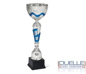 Coppa argentata con manici particolari oro personalizzata