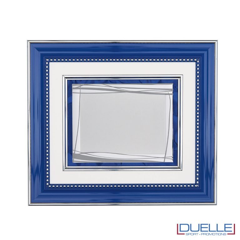 Cornice blu elegante targa personalizzabile