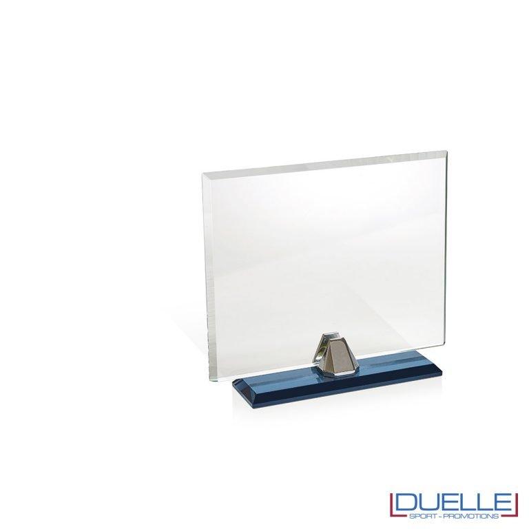 Targa in cristallo rettangolare