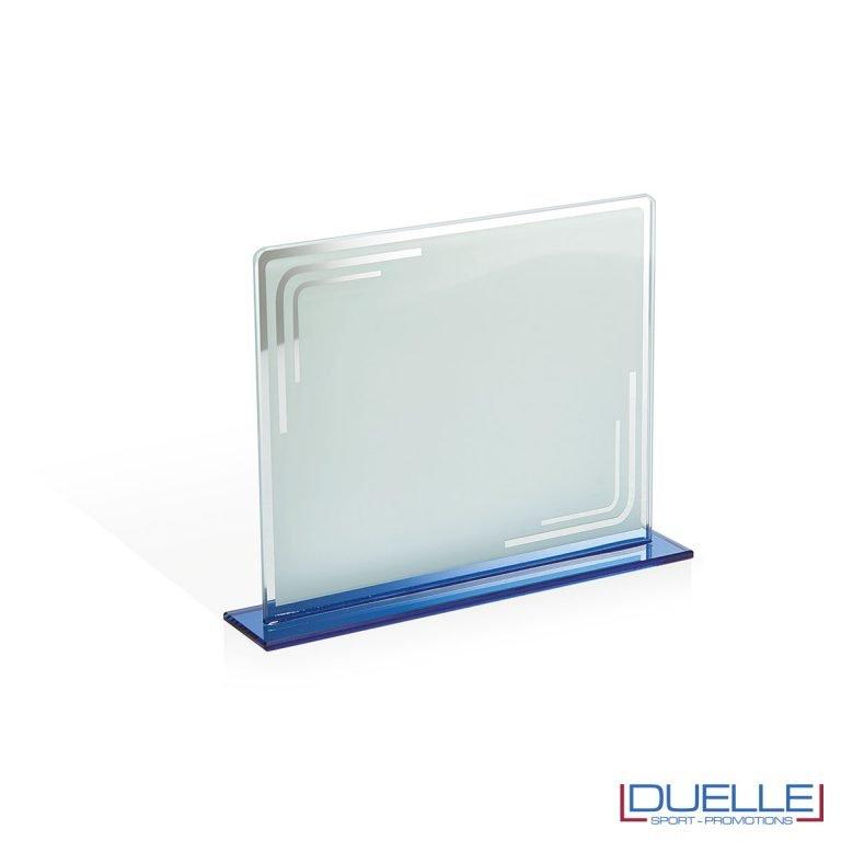 Targa in vetro bianco personalizzabile