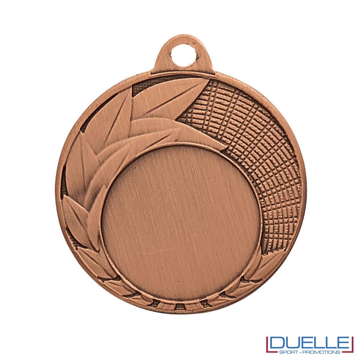 Medaglia premiazioni con foglie bronzo 40 mm