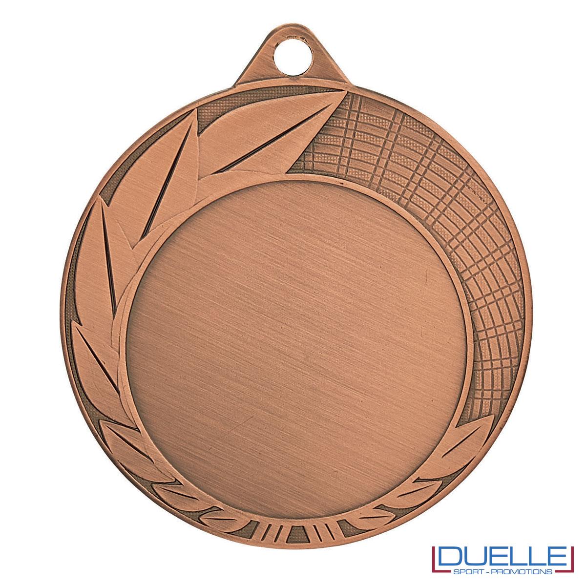 Medaglia premiazioni con foglie bronzo 70 mm