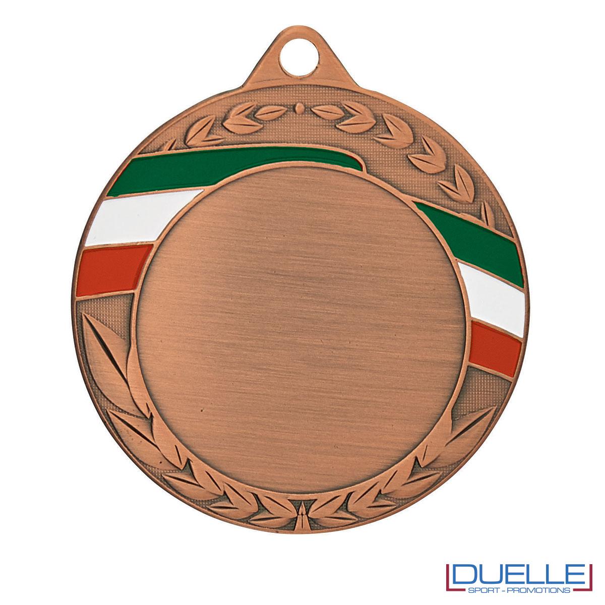Medaglia personalizzabile bronzo con tricolore