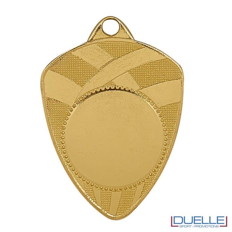 Medaglia a scudo oro personalizzabile