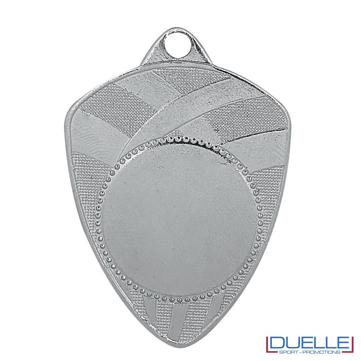 Medaglia a scudo argento personalizzabile