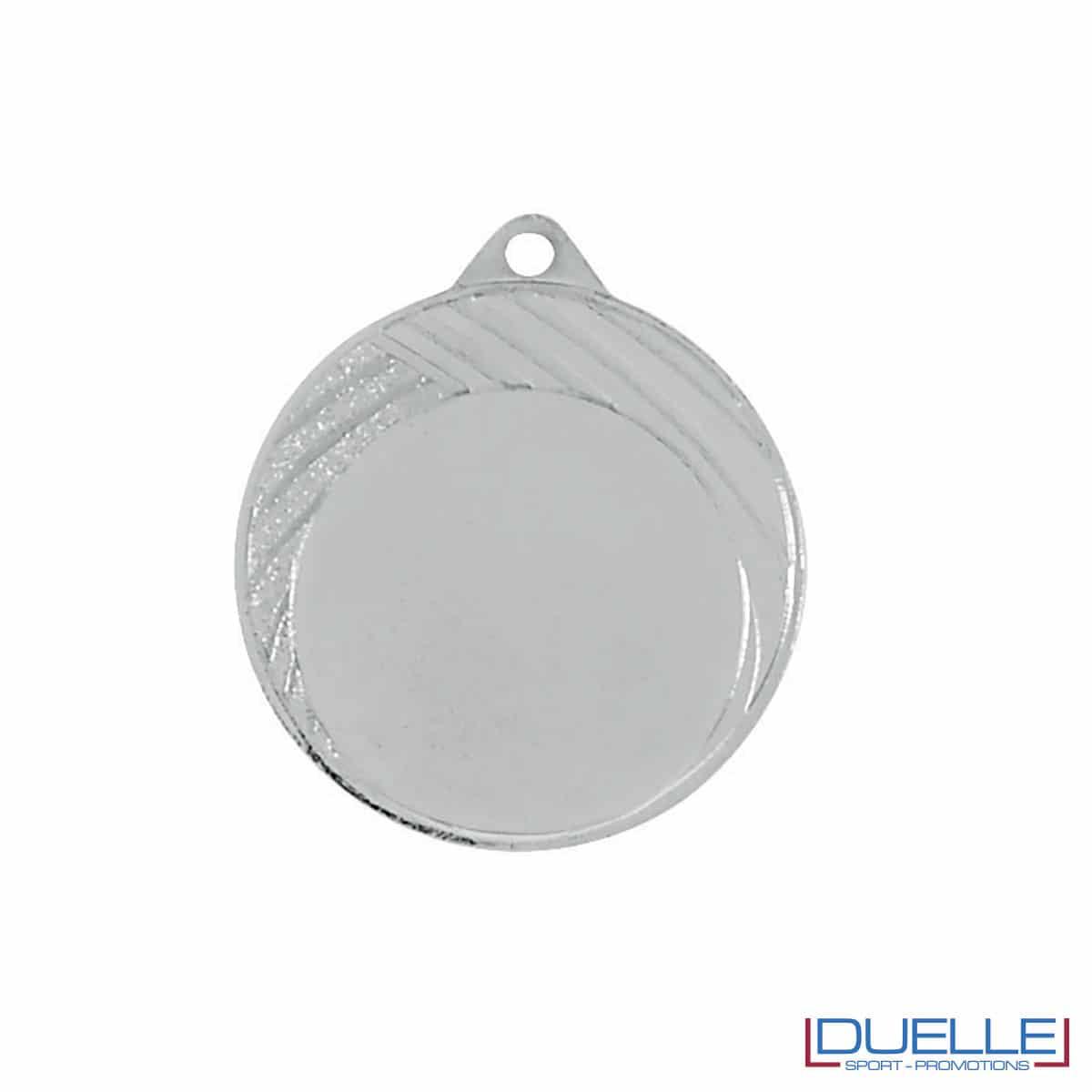 Medaglia in argento 32mm con decorazione a strisce da personalizzare