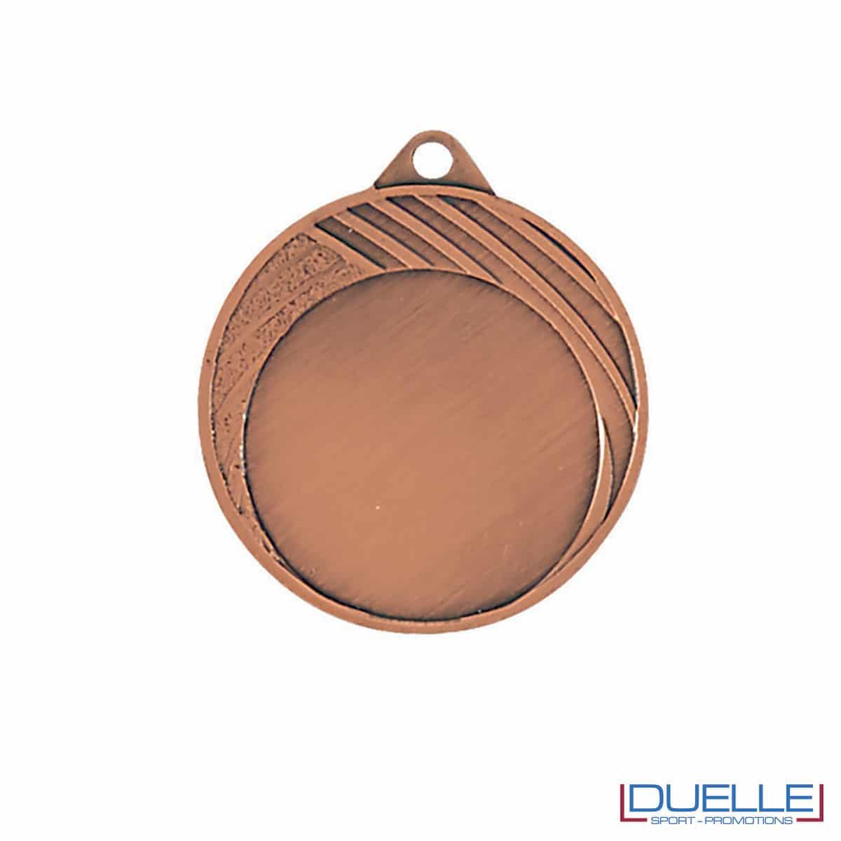 Medaglia con righe premiazioni sportive bronzo 32 mm personalizzabile
