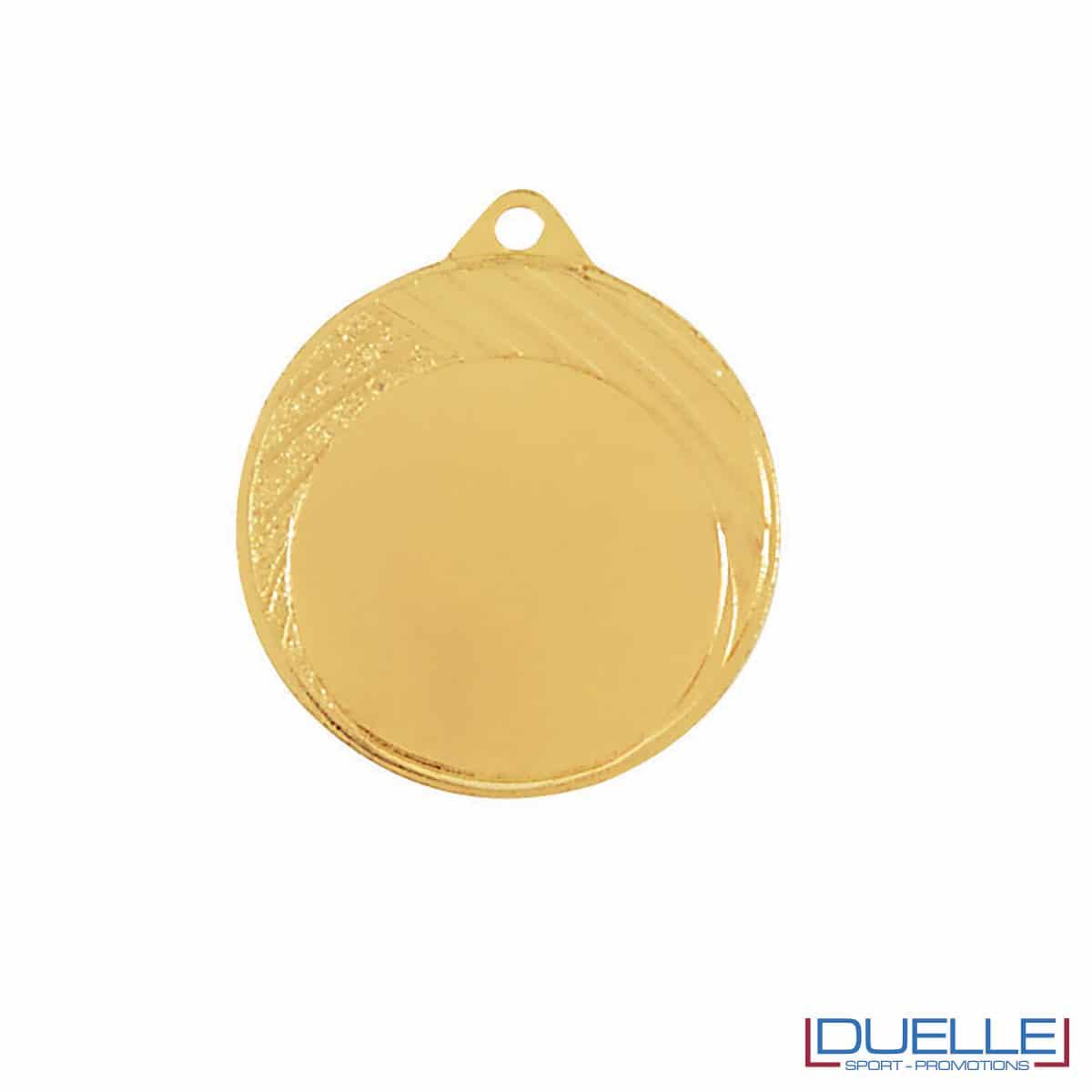 Medaglia con righe oro diametro 32 mm