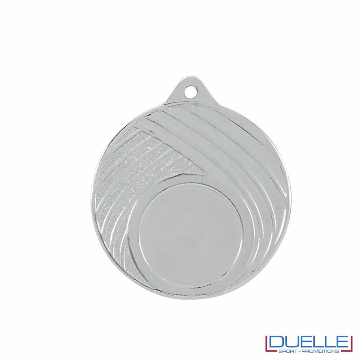 Medaglia in argento 50mm con decorazione a strisce personalizzabile