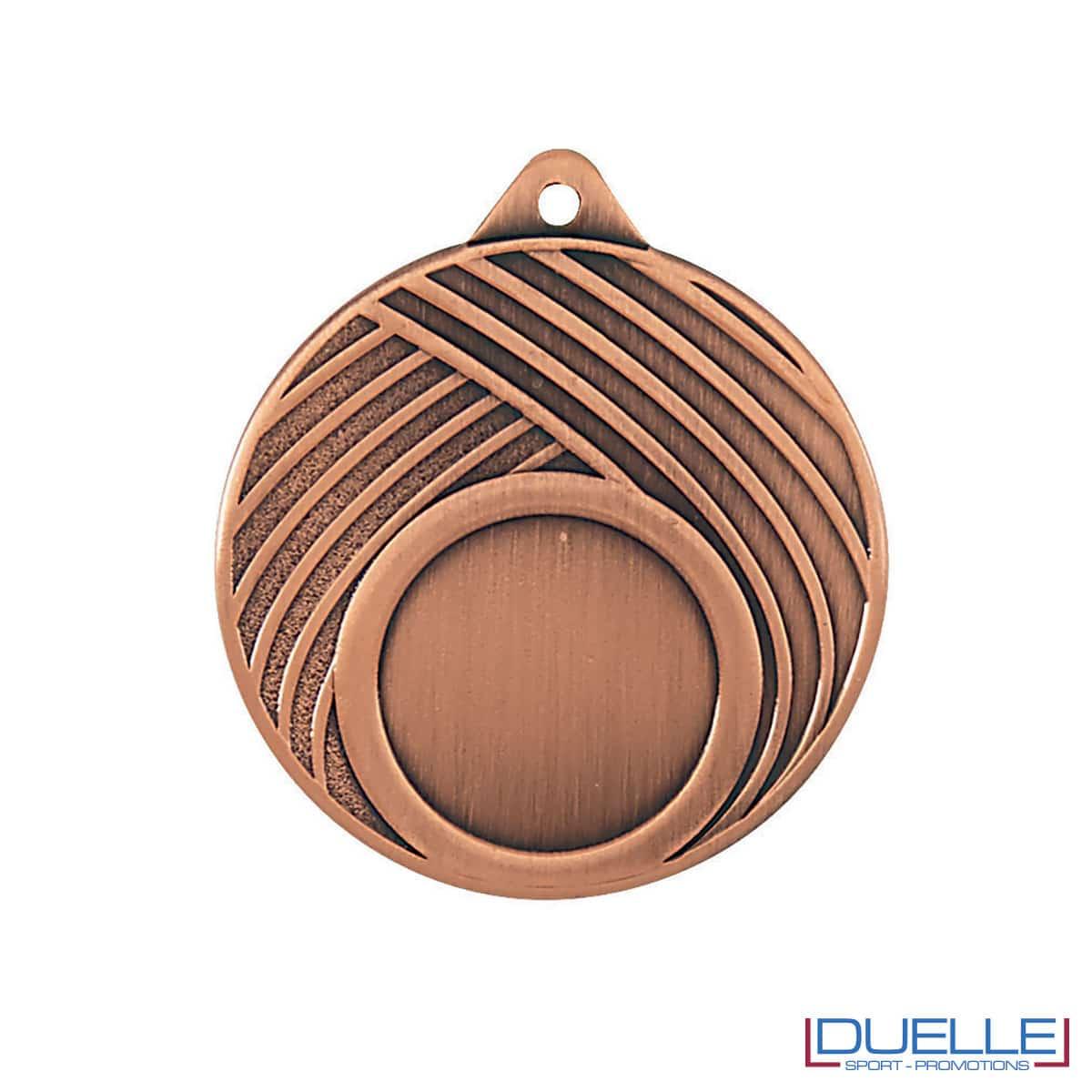 Medaglia premiazioni con righe bronzo diametro 50 mm personalizzabile
