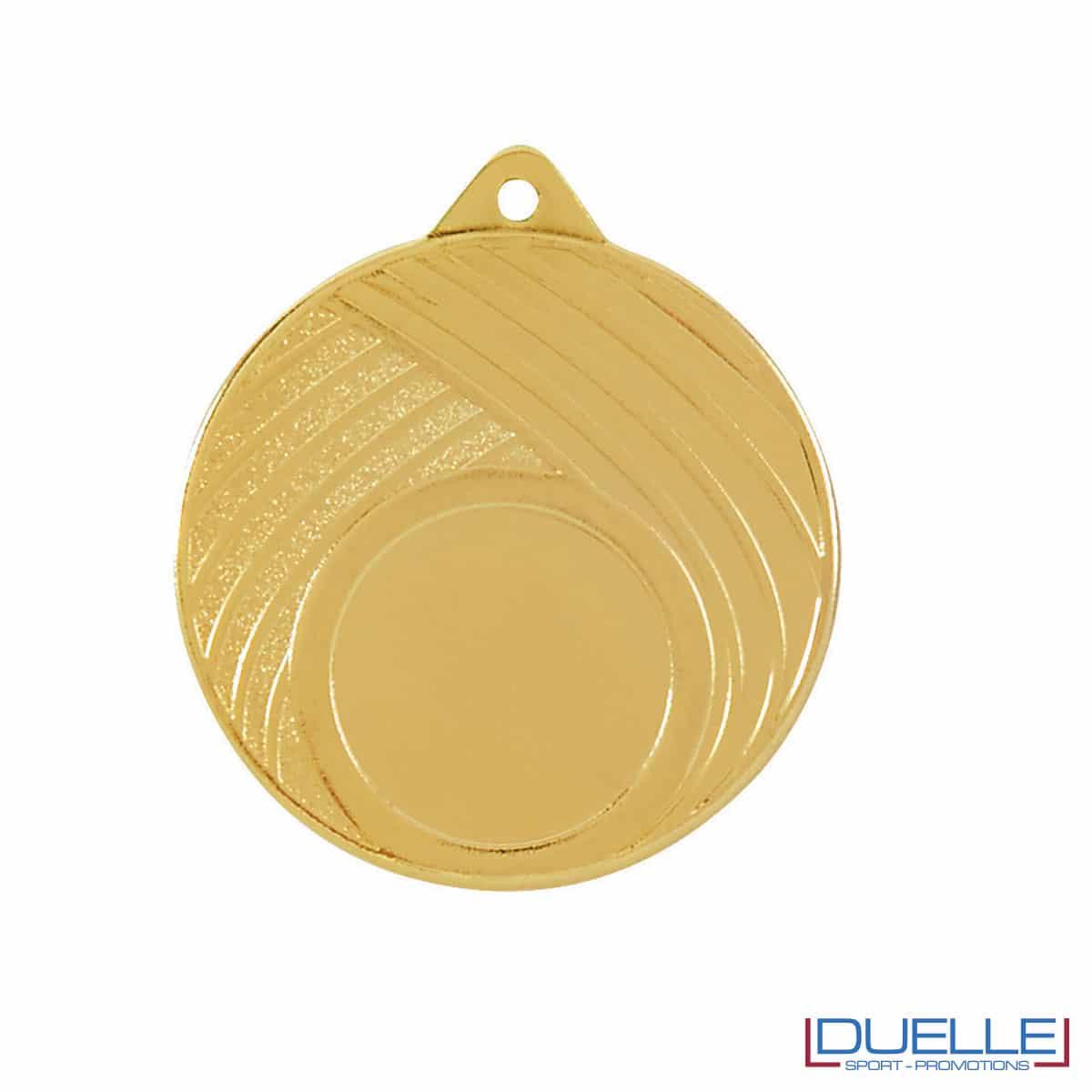 Medaglia con righe oro 50mm