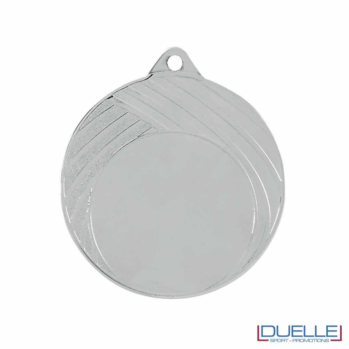Medaglia in argento 70mm con decorazione a strisce personalizzabile