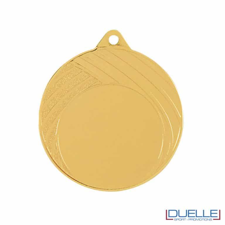 Medaglia righe decorative oro 70mm