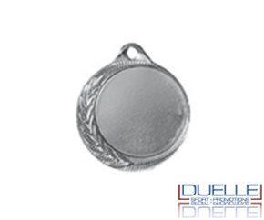 Medaglia personalizzata per premiazioni sportive colore argento diam.32