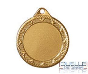 Medaglie in metallo personalizzate colore oro