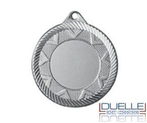 Medaglie in metallo personalizzate colore argento diam.45