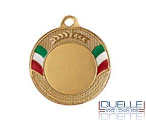 Medaglie tricolore personalizzate online diam.40 colore oro