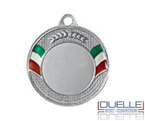 Medaglie tricolore personalizzate online diam.40 colore argento