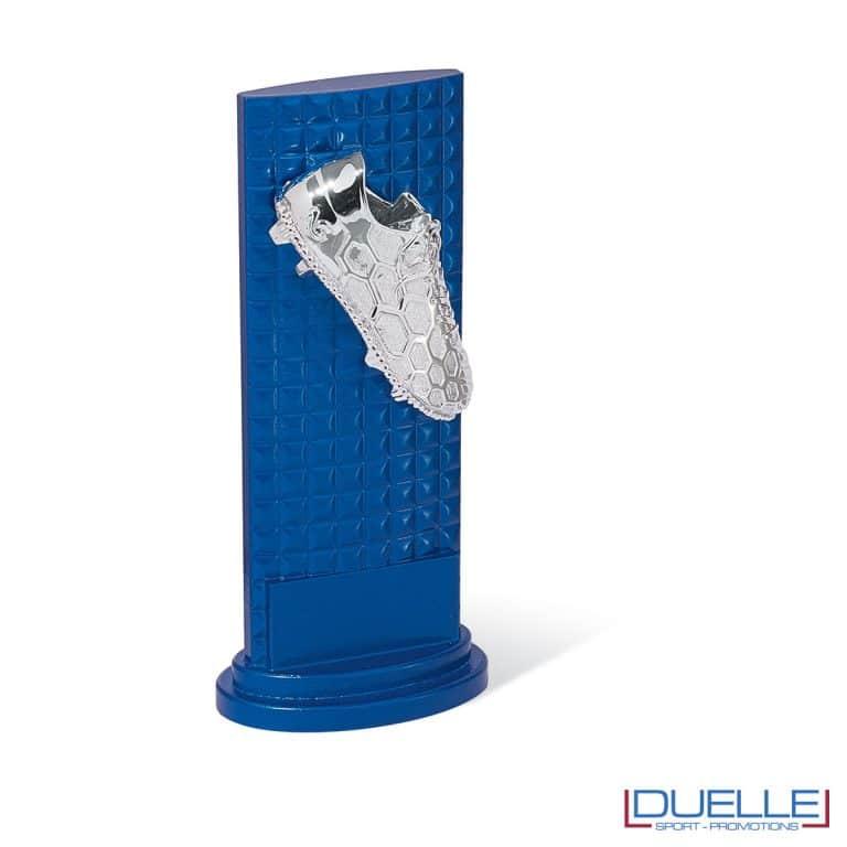 Totem blu con scarpino da calcio personalizzabile
