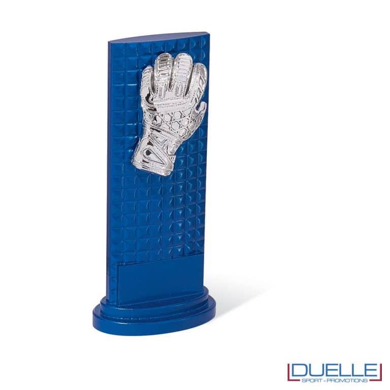 Totem blu con guanto portiere personalizzabile