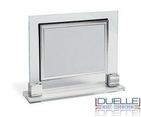 Targa in plexiglass con inserto argentato personalizzata con stampa a colori