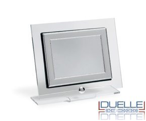 Targa in plexiglass personalizzata con blasone in argento